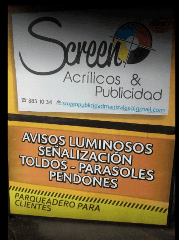 Screen Acrílicos y Publicidad aviso 3