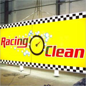 Screen Acrílicos y Publicidad aviso Racing Clean