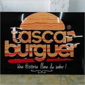 Screen Acrílicos y Publicidad aviso tasca burger